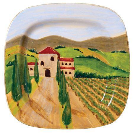 "$198.00 Tuscan Wheat Field 17"" Wall Plate by Vietri"