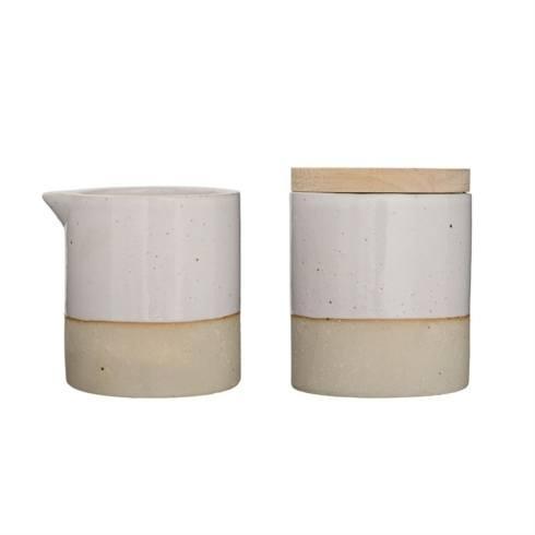 $20.00 Ceramic Barbara Sugar & Creamer Set