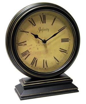"$62.00 Dais 10.5"" Distressed Wood Table Clock"