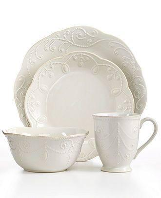 Sale $60.00 4 Piece Place Setting  sc 1 st  Live With It by Lora Hobbs & Lenox French Perle White products