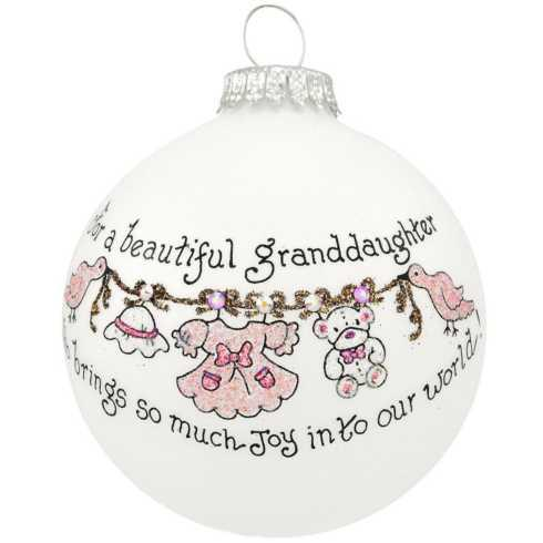 $22.00 For a Beautiful Granddaughter Ornament