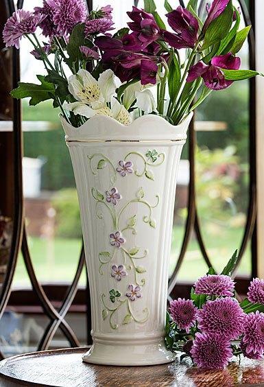 """$60.00 Irish Flax 9.5"""" Vase"""