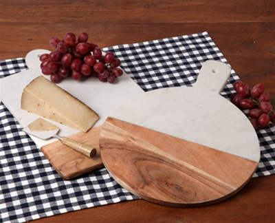$55.00 Wood and Marble Cheese Board