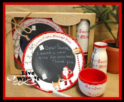 $38.00  Child to Cherish ~ Santa\'s Message Plate Gift Set