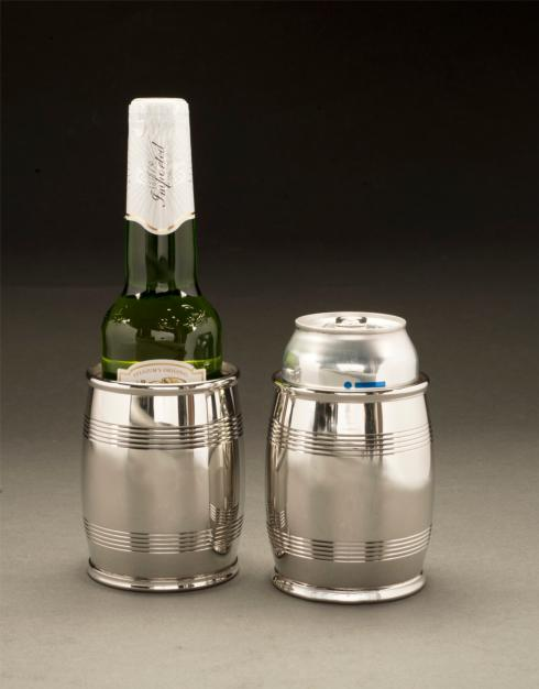 "$129.00 Mirror Finish Pewter 4"" Slim Barrel Beaker 14 oz."