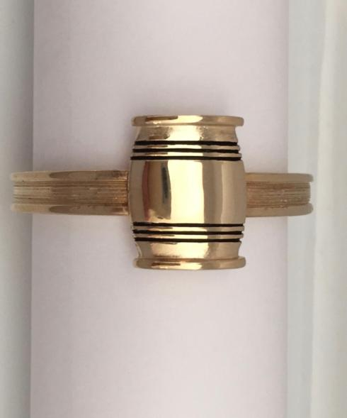 $20.00 Small Mirror Finish Barrel  on Etruscan Napkin Ring