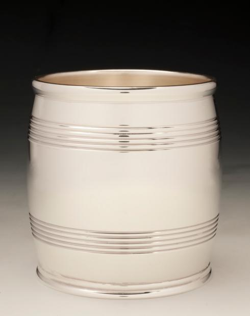 "$1,200.00 Sterling Silver 3"" Barrel Beaker 9 oz. (6.2 Troy oz.)"