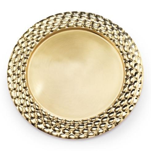 "$140.00 Brass Round Serving Tray 13"" D"