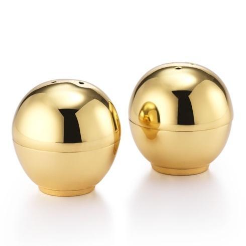 """$60.00 Brass Ball Salt & Pepper Set 2"""" D"""