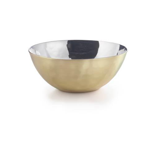 $20.00 Mojave Round Bowl w/Brass Plate