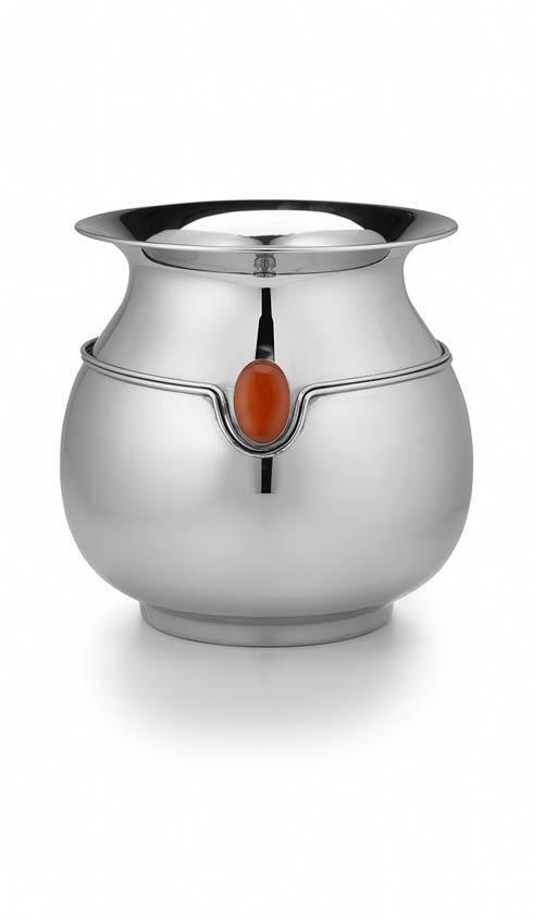 $180.00 Round Vase w/ Dbl Wire/Carnelian Stone
