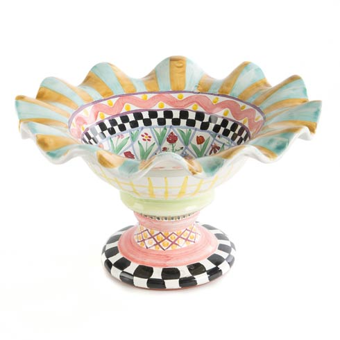 $235.00 Taylor Fluted Rim Compote - Odd Fellows