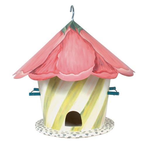 $198.00 Hollyhock Birdhouse