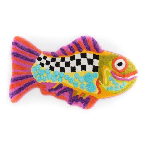 $70.00 Happy Fish Bath Mat