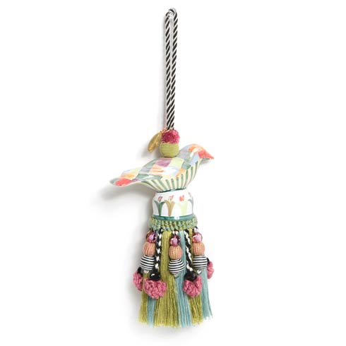 $78.00 Ceramic Bird Tassel - Harlequin