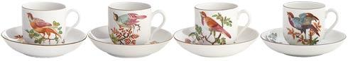 $340.00 Tea Cup & Saucer Set Of 4