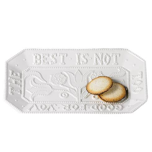 $75.00 Creamware Tray \'The Best\'