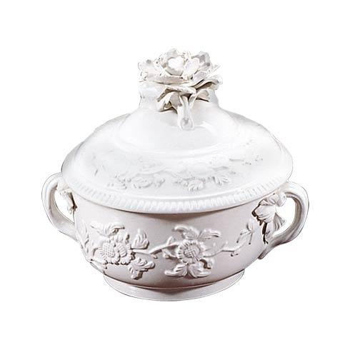 $195.00 Lobed Box W/Rose Finial