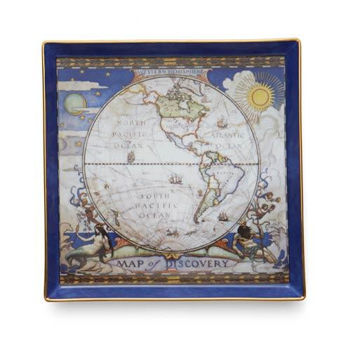 $105.00 Map Of Discovery West Canapé Plate