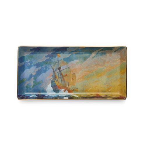 $80.00 Columbus Caravel Ship Pencil Tray