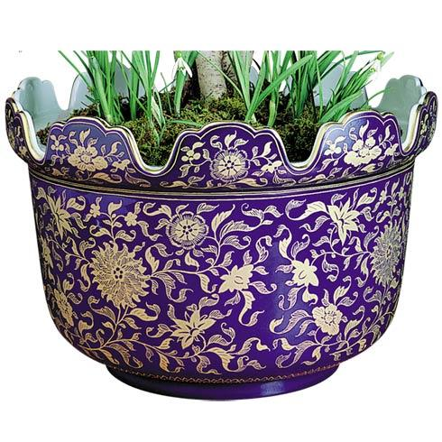 $1,585.00 Blue & Gold Monteith Planter