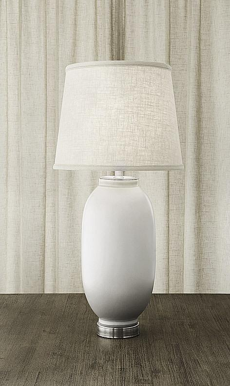 $1,075.00 Vase Lamp White & Gray