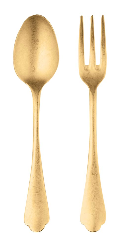 $134.40 Serving Set (Fork And Spoon) Oro
