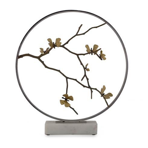 "$1,500.00 Butterfly Ginkgo 22"" Moon Gate Sculpture"