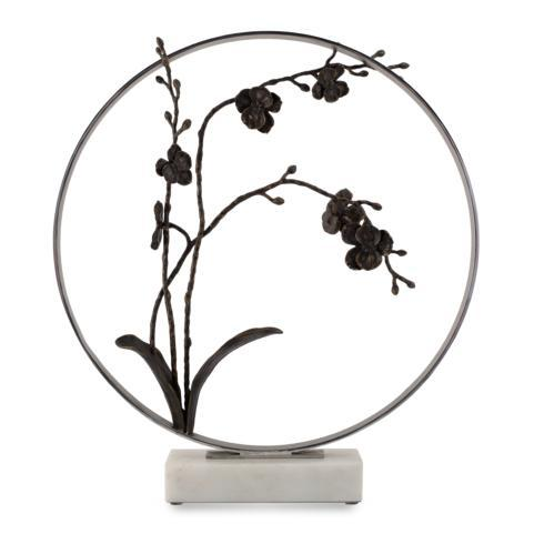 "$1,500.00 Black Orchid 22"" Moon Gate Sculpture"