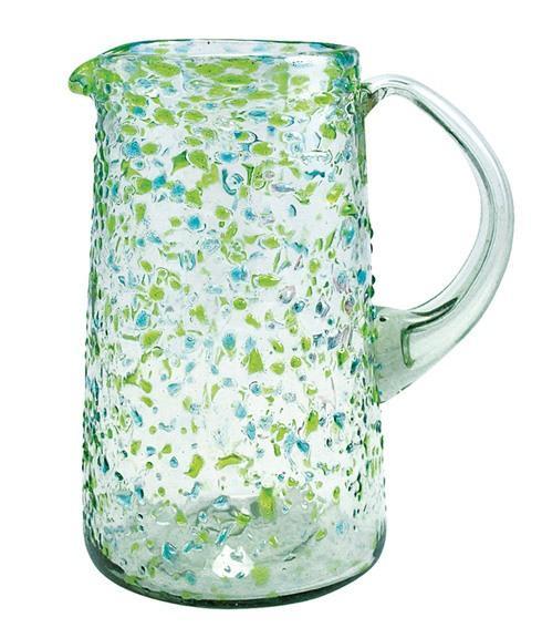 $39.00 Confetti Glass Pitcher, Green
