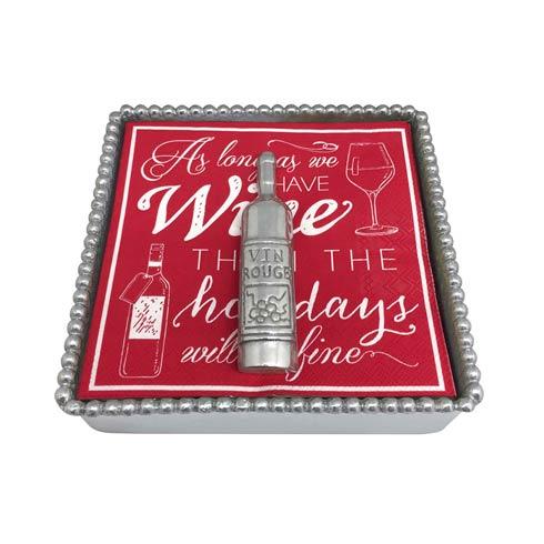 $48.00 Holiday Wine Beaded Napkin Box