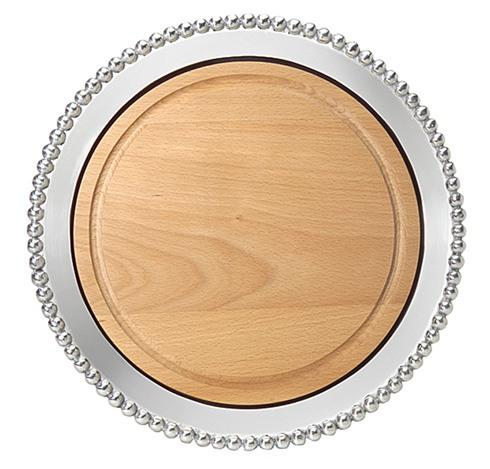 $139.00 Pearled Round Cheese Board,