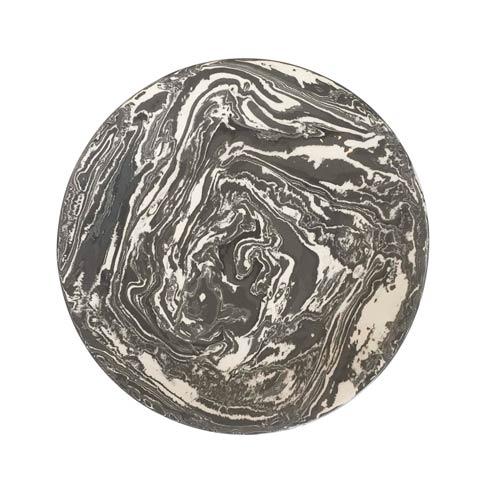 $145.00 Gray Marble Ceramic Round Platter