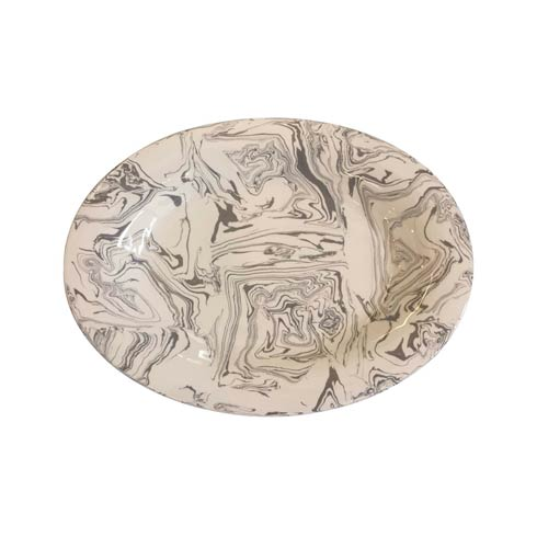 $295.00 Stone Marble Ceramic Oval Platter