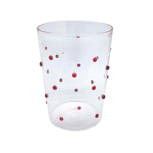 $39.00 Red Dotty DOF Glass