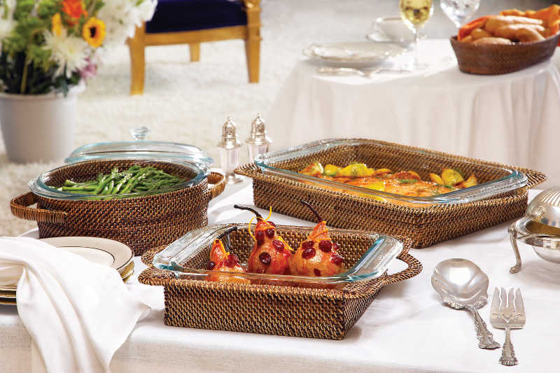 $72.95 Square 3-qt. Serving Dish & Holder
