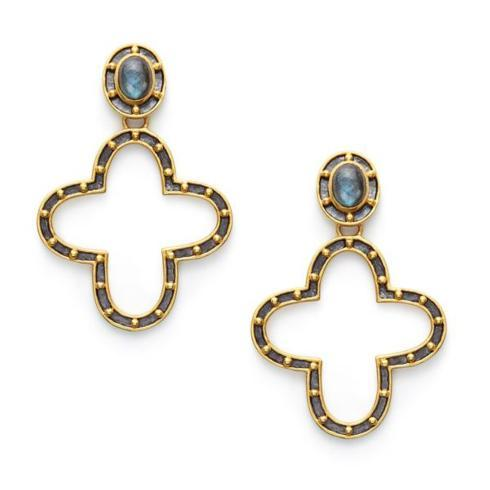 $175.00 Caspian Statement Earrings, Labradorite