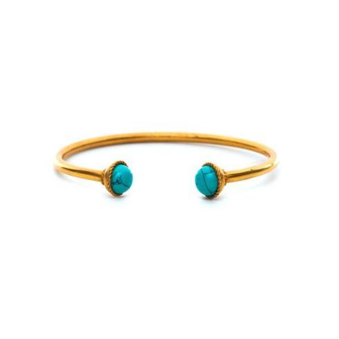 $85.00 Gigi Open Bangle - Turquoise
