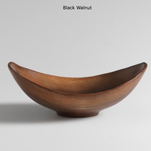 "$440.00 17"" Live-Edge Black Walnut Serving Bowl"