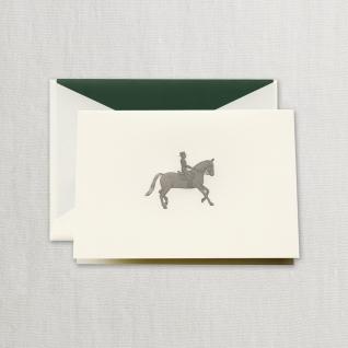 $29.95 Engraved Equestrian Notes on Ecru Kid Finish Paper (10) Cards & Envelops