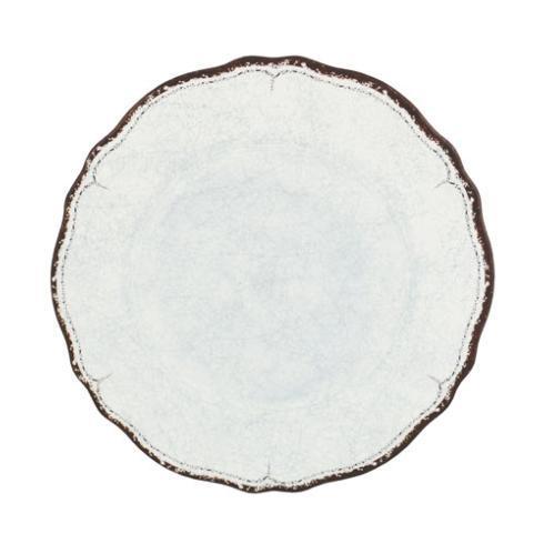 $21.00 Antiqua White Dinner Plate