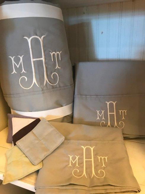 $205.00 King Sheet Set Monogrammed