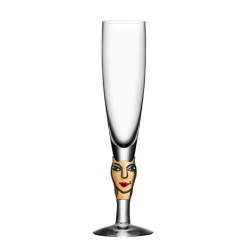 $157.50 30th Anniversary Black and 14 Carat Gold Champagne Glass