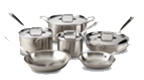 $1,199.99 Brushed D5 10 pc Stainless Set