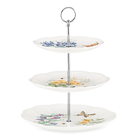 $70.00 Butterfly Meadow 3 Tier Cake Stand