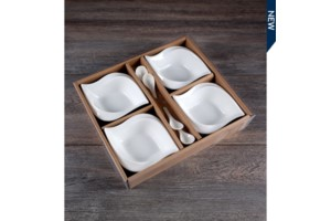 $7.25 Set of 4 Dish w/spoon