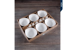 $9.49 Set of 6 Bowls w/ Spoon