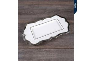 $8.49 Rectangle Platter w/silver