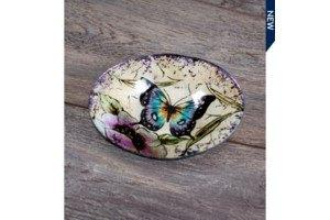 $4.99 Butterfly Round Serving Dish
