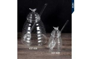 $7.99 Glass Honey Jar with spoon